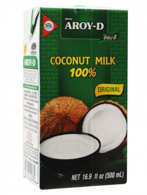 Leite Côco AROY-D 500ML - 100% Natural