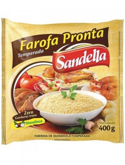 Farofa Pronta Temperada Tradicional - Farinha