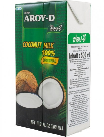 Leite Côco AROY-D 500ML - 100% Natural