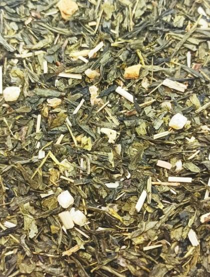 Chá Verde Ananás - Jengibre - Alcaçuz - Mistura Premium